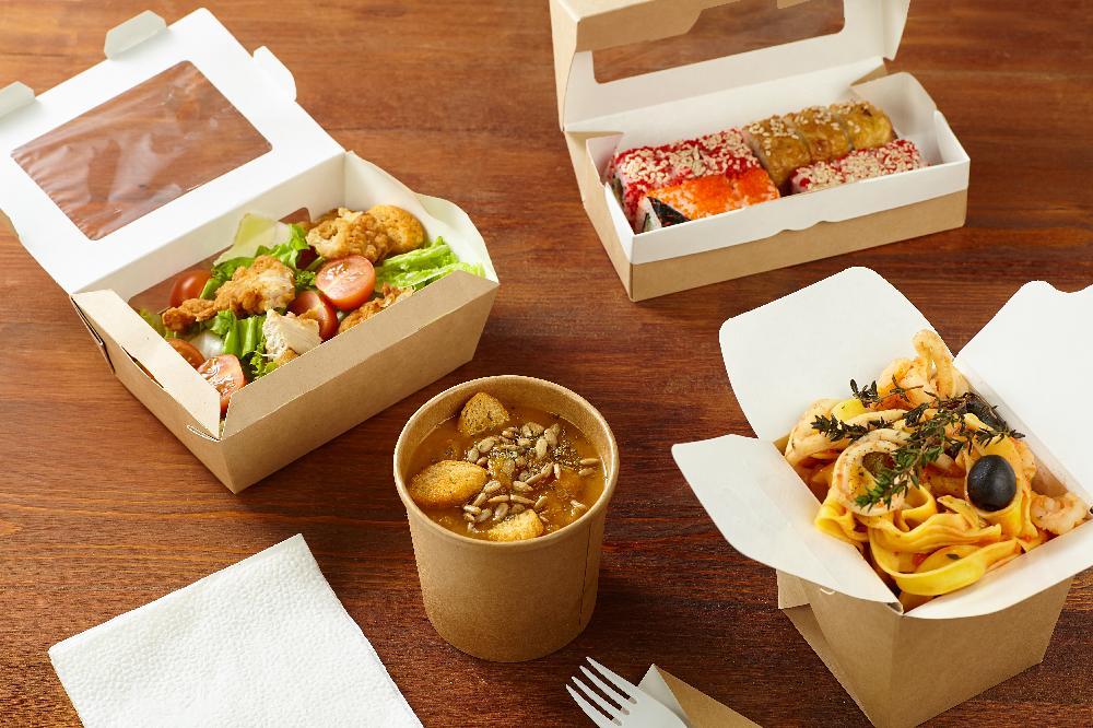 Popieriniai maišeliai greitam maistui